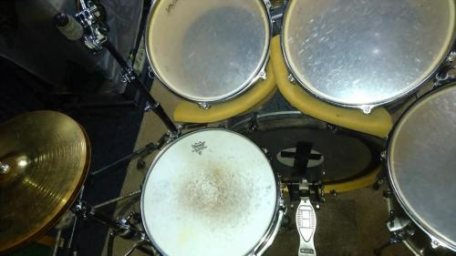 Live drum kit at Rehearsal Base Enthusiast in Moscow, RUSSIA